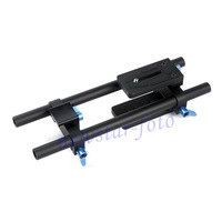 DSLR rail 15mm rod support system for Olympus E-400 E-410 E-420 E-450 E-510 E-520 E-600 E-620 E30 SP-565UZ SP-570UZ SP-590UZ