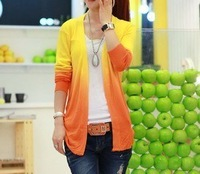 happy SZ  autumn wear new dress cape gradient of cultivate one's morality sweater coat FSY0008