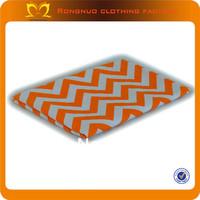100*150CM white orange chevron cotton print fabric patch,decorative fabric patches 1 pcs free shipping