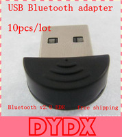 Smallest 2.0 Mini USB Bluetooth Adapter V2.0 EDR USB Dongle for PC Laptop Accessories 10pcs/lot Wholesale
