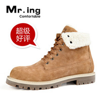 2013 Genuine leather shoes men Mr.ing aku autumn and winter high work boots lovers casual male Free Shipping shoes popular h368