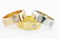 Free Shipping 18k Rose Glod Plated Stainless Steel Jewelry rings