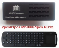 Free shipping MK808B Bluetooth Mini PC RockChip RK3066 Dual Core 1.6GHz 1G/8G Android 4.2 Google TV with Russian rc12