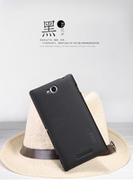 Black Nillkin Hard Cover Skin Case + Screen Guard for Sony Xperia C S39H C2305