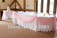 1.35*5M unit 21corlors Sheer Mirror organza Stiff Fabric For Wedding Drape Decoration Discount light pink colour