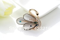 2013 new arrival classic women swan brooches free shipping