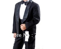 boy's Formal Party Tuxedo suit Wedding suits Groom Suit Jacket+Pants+bow tie+band+shirts Dress Suit 5 pcs set 5sets/lot #3462