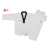 Adult child tae kwon do polyester cotton stripe long-sleeve clothes embroidered and printing