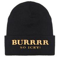 2013 new Cheap BURRRR SO ICEY Beanie hats classic black winter knitted caps for men women girls fashion head wear Free shipping