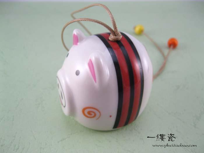 Pig ceramic wind chimes(China (Mainland))