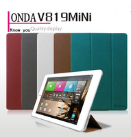 New arrival!!!! the smart cover tablet pu leather case for onda v819 mini case+Free shipping by HK air post