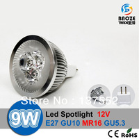 10X High power CREE MR16 GU5.3 9W 12W 15W 12V Dimmable Light lamp Bulb LED Downlight Led Bulb Warm/Pure White 3-year Warranty