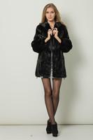 Free shipping female mink coats mink coat women with hood luxurious mink coat
