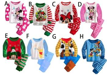 Free shipping Winter Babys Sleepwear Cotton Boys Pyjamas Girls Clothing Children's Clothes Baby Sets Underwear kids pajama sets