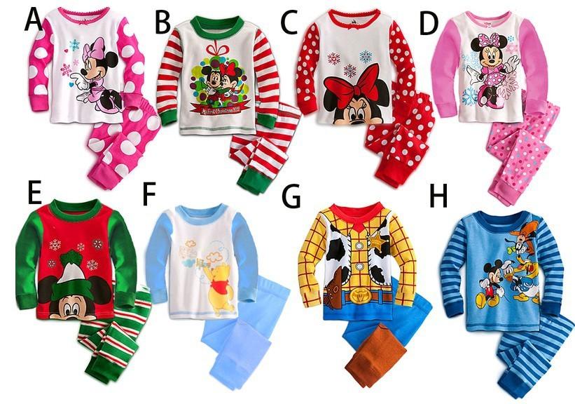 Free shipping Winter Babys Sleepwear Cotton Boys Pyjamas Girls Clothing Children's Clothes Baby Sets Underwear kids pajama sets(China (Mainland))
