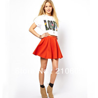 2013 autumn&winter newest  western simple fashion generous woolen A-Line skirt