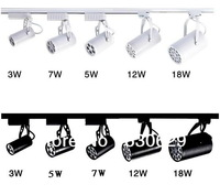 wholesale  10pcs/lot DHL Free shipping LED Shoot the light 3W/5W/7W/9W12W15W/18W high power LED track lights