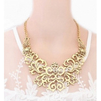 """Card packaging"" 2014 K157 European and American fashion star Fan delicate openwork pattern necklace personalized aesthetic"