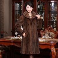 Marten overcoat Women 2013 mink fur overcoat ultra long mink leather coat winter