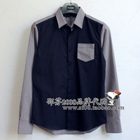 Peacebird men's clothing 2013 autumn male long-sleeve shirt b1ca33312b1