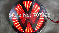 3D VW LED Car Logo Light Lamp Rear Badge Emblem Sticker For Volkswagen GOLF MAGOTAN CC  Tiguan BORA  Scirocco