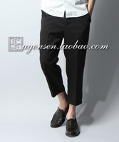 Hare casual solid color 8 - 9 pants male 3
