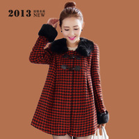 Casual wool coat female 2013 autumn and winter AYILIAN loose cloak woolen outerwear woolen female