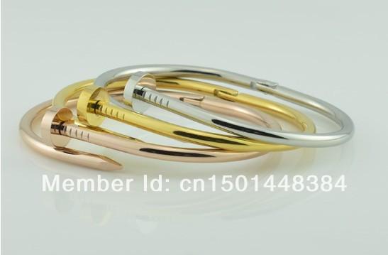 fashion nail bracelet fashion lover couple punk bangle 316L stainless steel jewelry wholesale(China (Mainland))