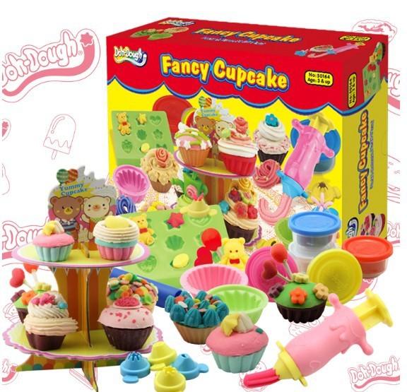 Spedizione Gratuita Plastilina Giocattolo Doh Pasta Cupcake Divertente