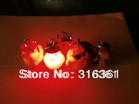 easy picking LED Yellow duck key ring free shipping; flash led lighting free shipping;