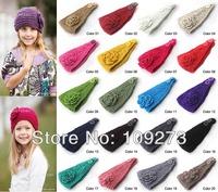 Free epacket shipping 25pcs/lot hot sale fashion winter-Handmade knitted headband& Flower headbands mix color