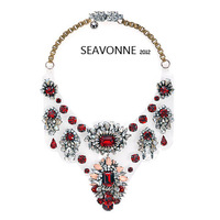 Christmas gifts  high-quality shourouk necklace red Transparent acrylic crystal bubble necklaces statement jewelry N