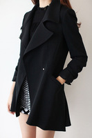 Quality solid color fashion elegant trench loose casual outerwear autumn new arrival 2013 female