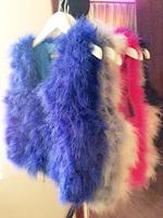Free shipping 2013 turkey wool ostrich fur vest short design vest waistcoat outerwear very nice+highquality fur coat
