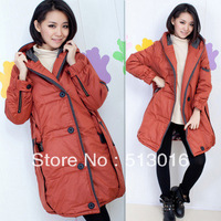 Plus size maternity clothing winter clothing outerwear wadded jacket maternity thickening cotton-padded jacket/ L - XXXXL
