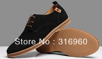 Free Shipping 2013 NEW Men Suede Shoes Big Size Shoe European style Large Men's shoes Genuine Leather Shoes High Quality