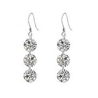 Crystal 925 silver earrings jewelry earring girlfriend gift gifts jewelry silver jewelry