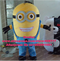 Hot Sale New Custom Made Despicable Me Minions Mascot Costume Character Mascotte No.10018 Free Shipping