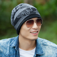 Hat tidal current male cap autumn and winter casual cap turban hip-hop hiphop toe cap covering cap
