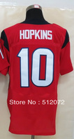 #10 DeAndre Hopkins Men's Elite Alternate Red Football Jersey