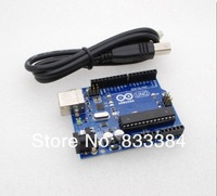 7pcs/lot wholesale!! UNO R3 board MEGA328P 100% new ATMEGA16U2 + 1PCS USB Cable for Arduino Free shipping