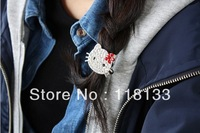Crystal Hello Kitty Hair Tie Ponytail Holder Girl Women Lady Gift Free Shipping