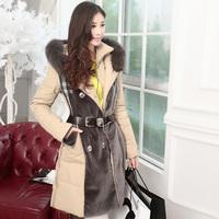 Free Shipping! High-end Customization Raccoon Fur Collar Long-sleeve Fashion Thicken Women Down Jackets Coats,GRYR206
