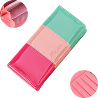 2013 New Fashion PU Leather Women Wallets, Day Clutch,Women Handbag Free Shipping