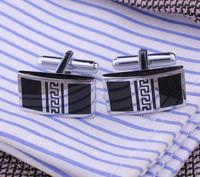Black cufflink, Fashion men jewelry quality Black enamel copper cufflinks nail promotional free shipping