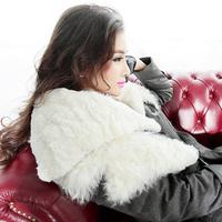 Free Shipping! High-end Customization Tan Wool Cape Collar Long-sleeve Fashion Thicken Women Down Jackets Coats,GRYR182