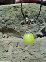 Fashion national trend unique pendant silver jade pendants masan olive green tibetan jewelry silver necklace xl041
