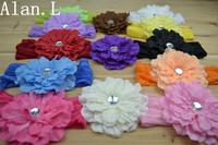 "Lot of 23 pcs Girls Baby 4"" Peony flower clips Hair bow & Baby girls 7"" Silk  Headbands"