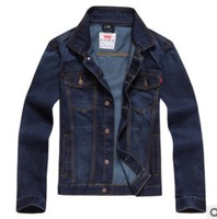 2013 New Plus size XL XXL XXXL 3XL Long sleeve Jeans Jackets Coats, Men's Cotton Autumn Winter Denim Outerwear Good Quality