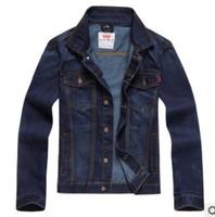 2014 New Plus size XL XXL XXXL 3XL Long sleeve Jeans Jackets Coats, Men's Cotton Autumn Winter Denim Outerwear Good Quality